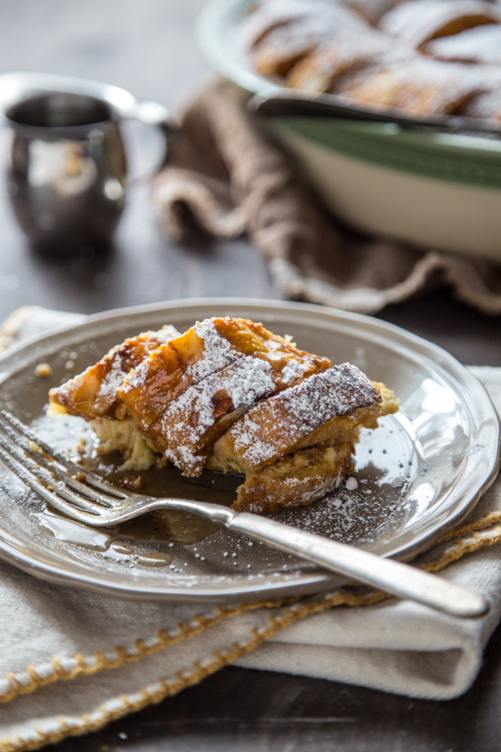 Pumpkin Bread Pudding with Maple Rum Raisin Syrup
