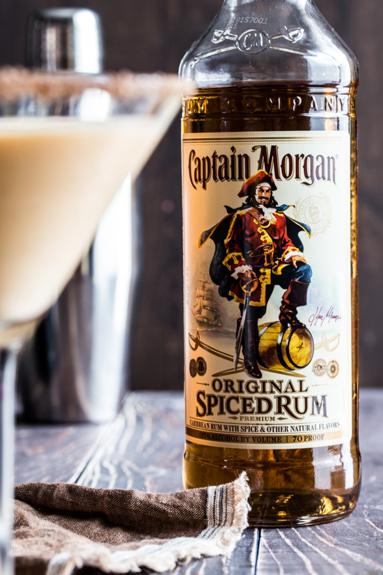Captain Morgan Bottle by Jelly Toast #CaptainsTable