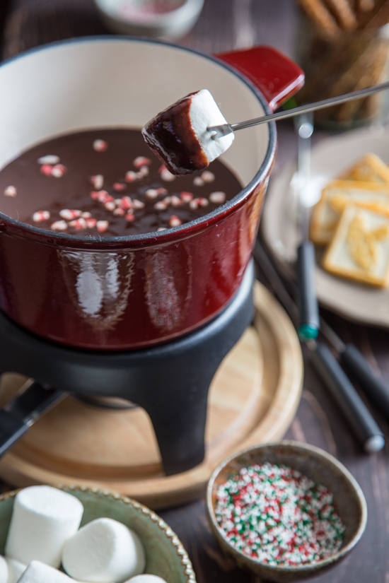 chocolate peppermint fondue-009
