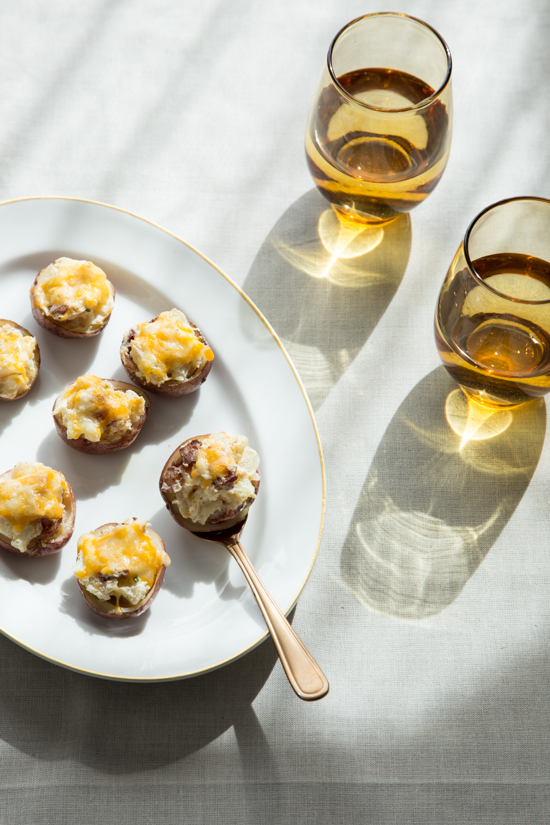 Twice Baked Potato Bites with Jelly Toast
