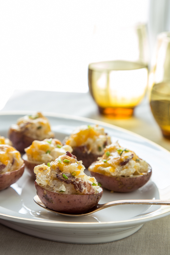these bacon sour cream and chive twice baked potato bites
