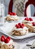 Chocolate Swirl Meringue Nests by Jelly Toast