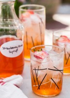 Strawberry Shrub Coolers by Jelly Toast