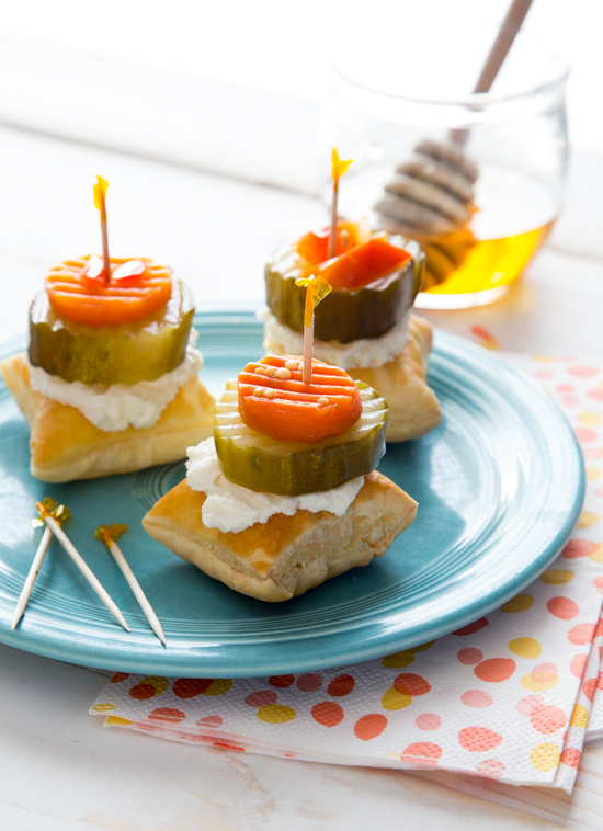 Honey Goat Cheese Pickle Bites by Jelly Toast