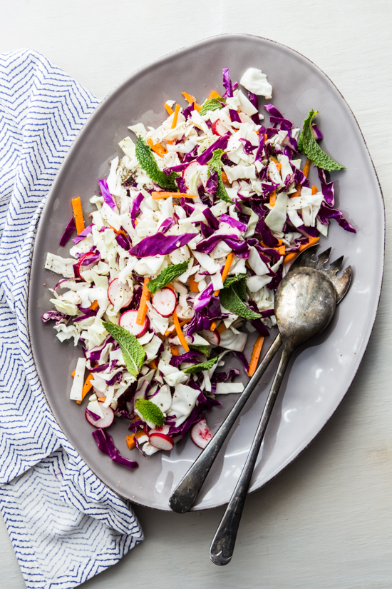 Vegetable Slaw with Mint and Lime by Jelly Toast
