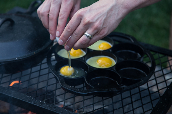 campfire breakfast burger by Jelly Toast
