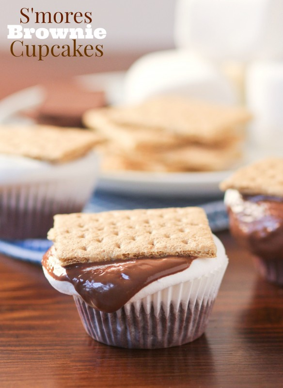 S'mores Brownie Cupcakes by Confessions of a Cookbook Queen