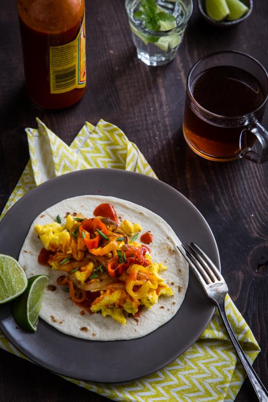 Breakfast Fajita Tacos by Emily Caruso