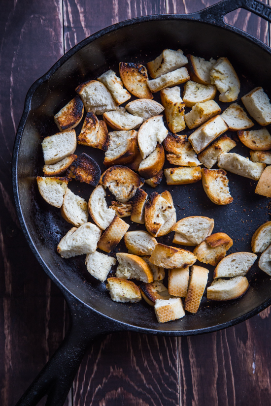 Skillet Croutons by Jelly Toast