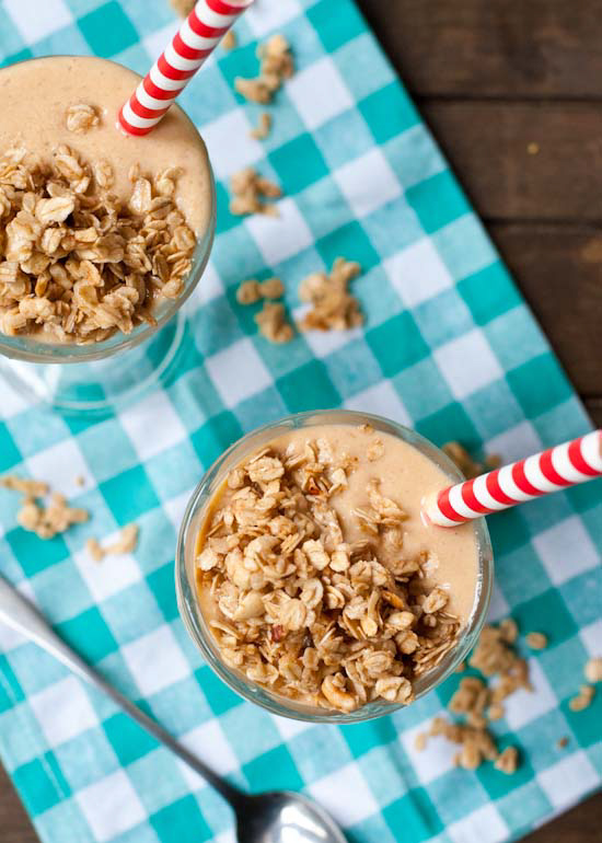 Peach Crisp Smoothie by Courtney Rowland of NeighborFood