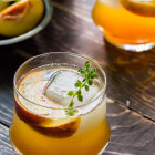roasted peach bourbon cocktail {cocktail friday}