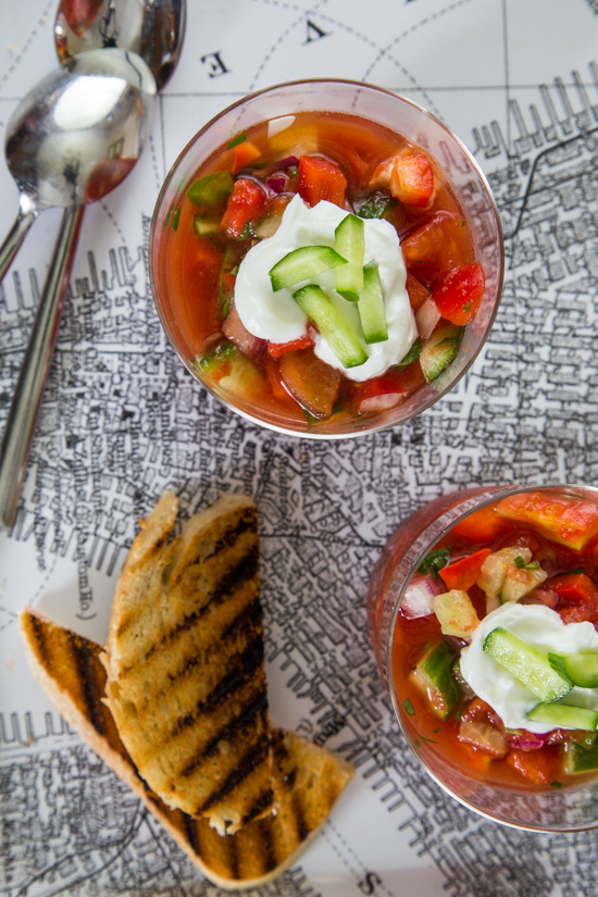Gazpacho by Jelly Toast #SundaySupper
