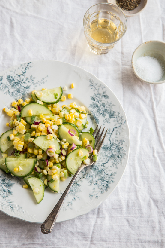 Cucumber Corn Salad by Jelly Toast