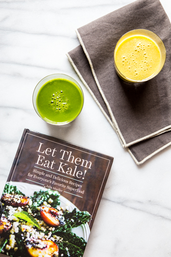 Orange Creamsicle Kale Stem Smoothie | jellytoastblog.com
