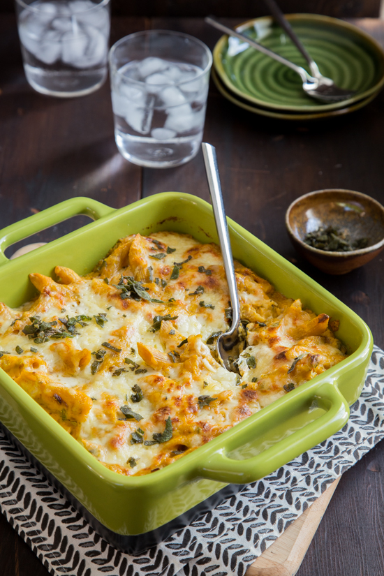 Pumpkin Sage Baked Ziti 2 | photo by Emily Caruso
