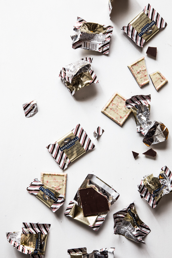 Peppermint Bark Brownies | jellytoastblog.com