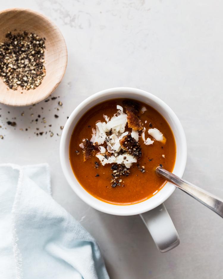 Bloody Mary Soup | JellyToastBlog.com