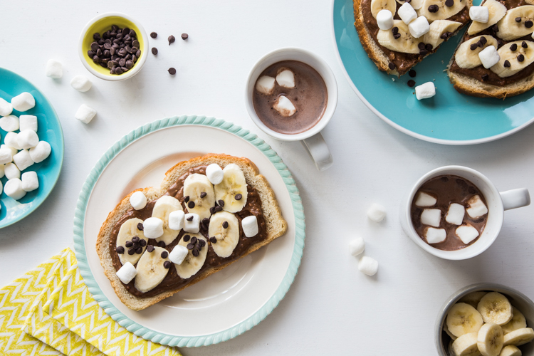 Chocolate Marshmallow Banana Toast | JellyToastBlog.com (1 of 1)