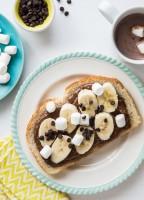 Chocolate Marshmallow Banana Toast | JellyToastBlog.com