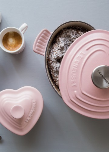 Le Creuset Valentines Pink Heart Cocotte Giveaway | JellyToastBlog.com
