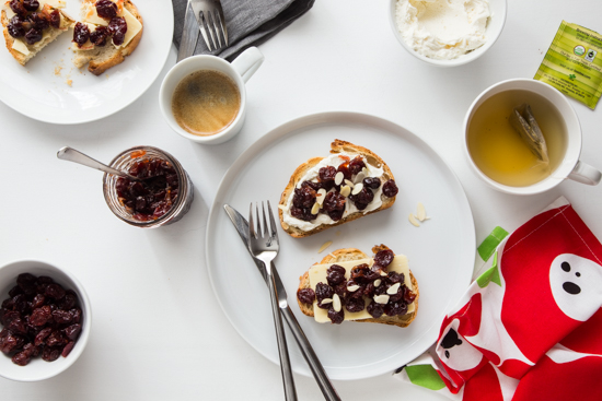 Tart Cherry Chutney Toast | Jelly Toast