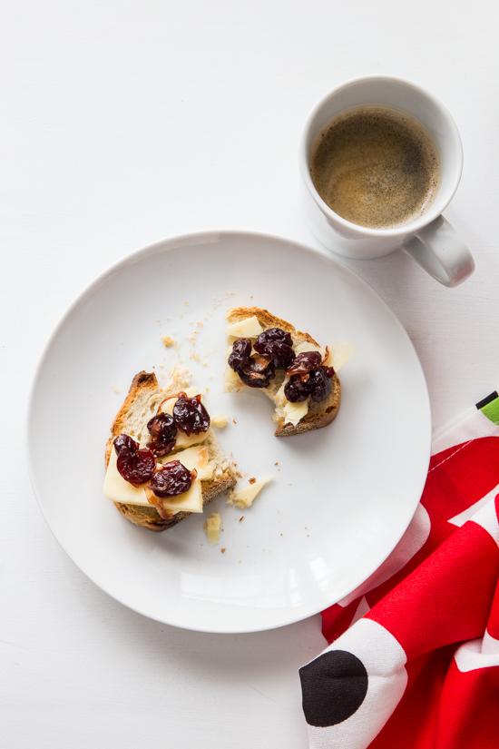 Tart Cherry Chutney Toast | Jelly Toast