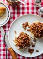 Baked Bean Brisket Toast | JellyToastBlog.com