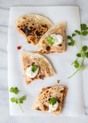 Chicken CousCous Quesadillas | JellyToastBlog.com