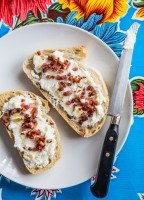 Pineapple Goat Cheese Toast | JellyToastBlog.com