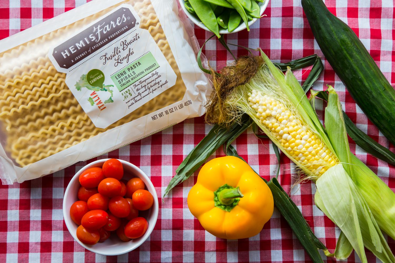 Summer Vegetable Pasta Salad | JellyToastBlog.com