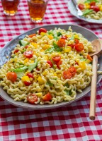 Summer Vegetable Pasta Salad | JellyToastBlog.com