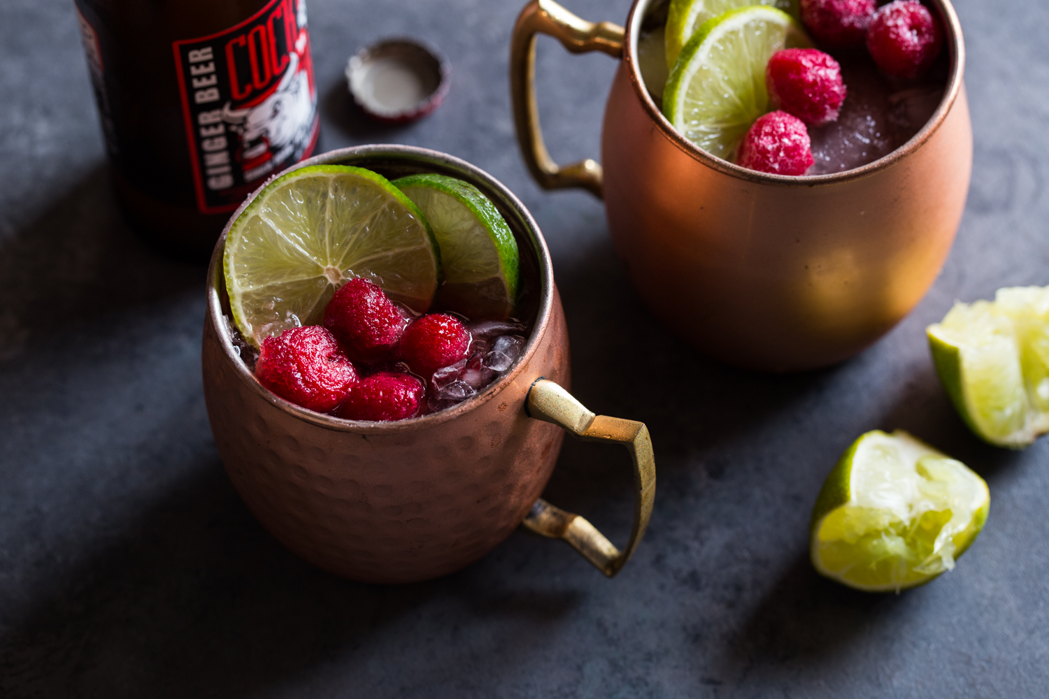 Michigan Mule with tart cherry concentrate, fresh lime, and spicy ginger beer!