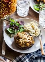 Sausage Stuffed Portabella Mushrooms | JellyToastBlog.com