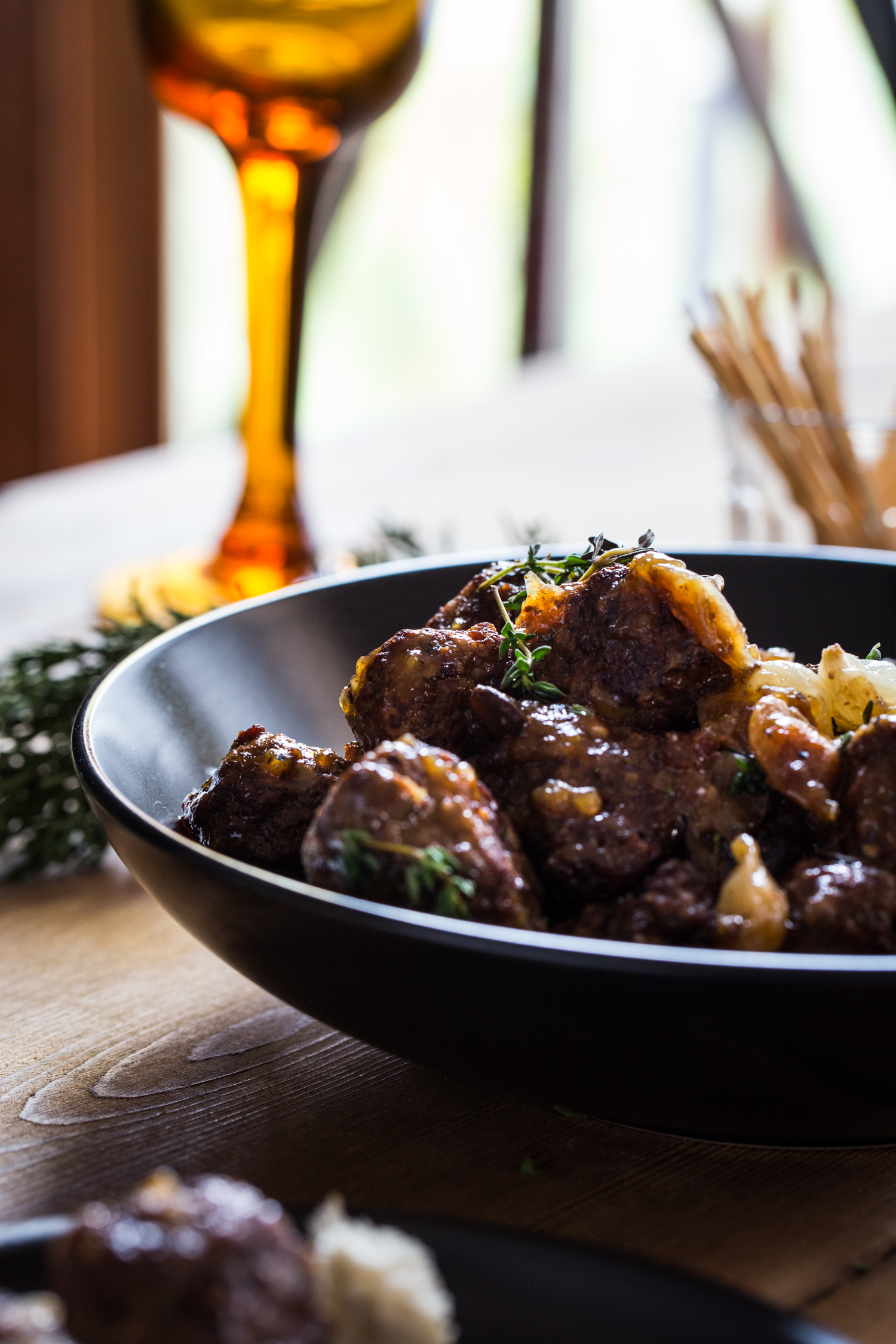 Beef Bourguignon Meatballs are perfect for holiday cocktail parties!