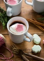 Make a sweet Cinnamon Marshmallow Mug Brownie topped with an adorable Cinnamon Marshmallow!