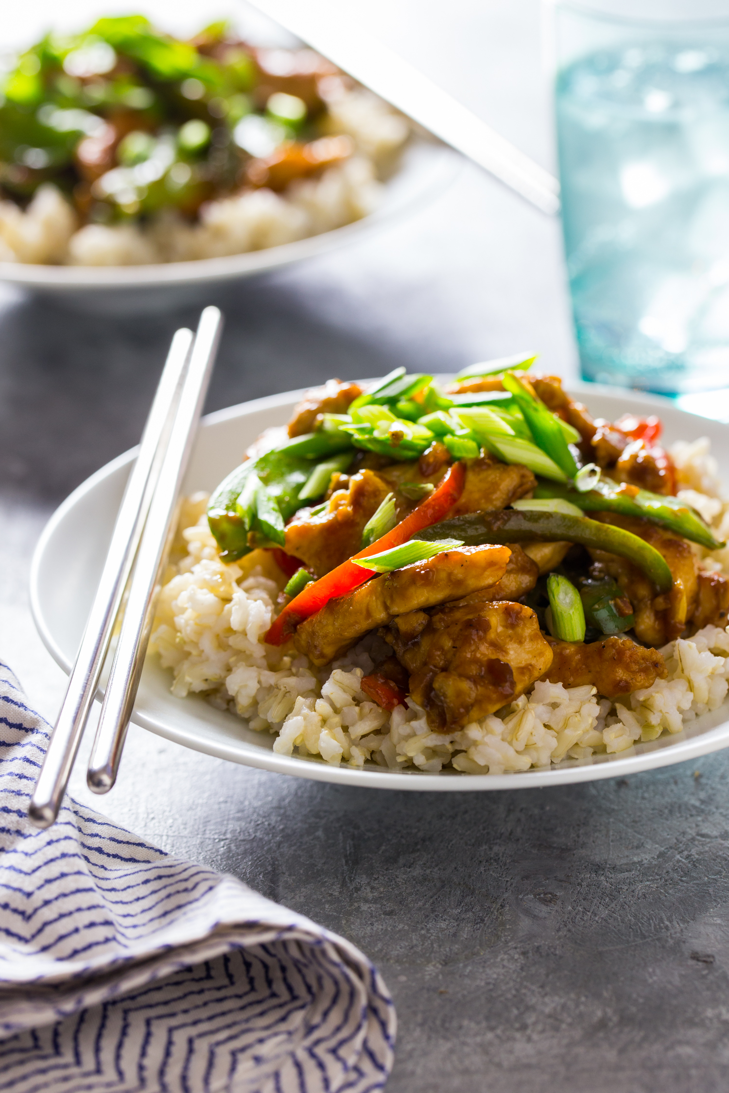 Ginger Chicken Stir Fry is ready in less than 30 minutes and perfect for a busy weeknight dinner!