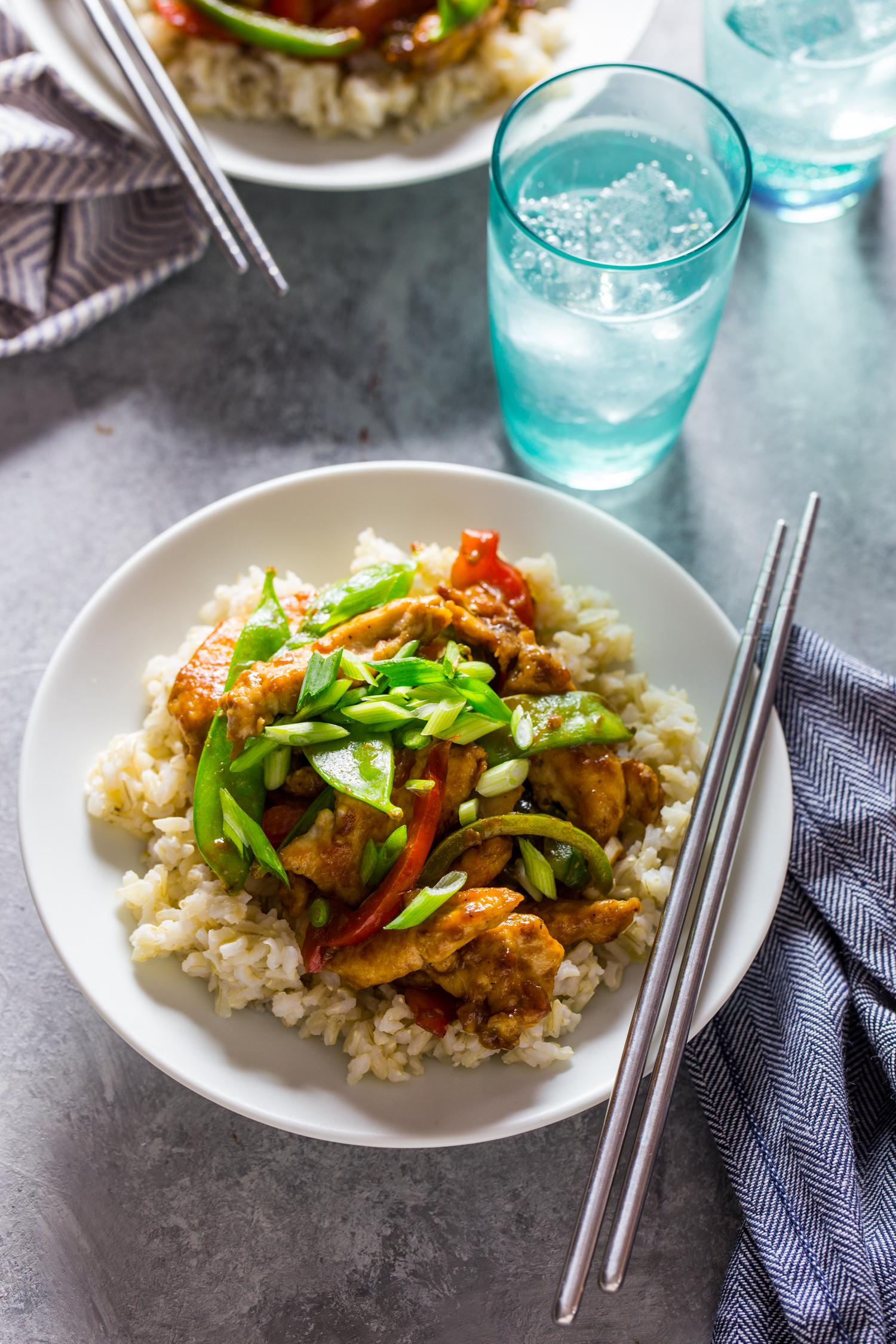 Quick and easy, Ginger Chicken Stir Fry for a busy weeknight.