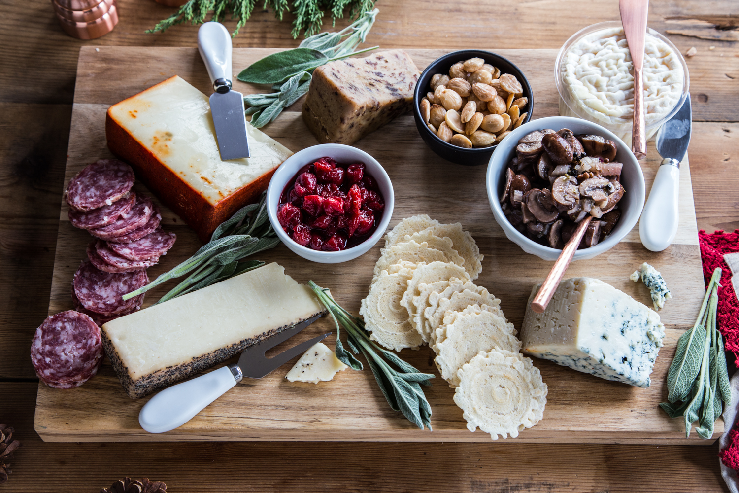 Celebrate with a Holiday Cheese Board with Montmorency Tart Cherry Bourbon Compote!