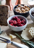 Holiday Cheese Board with Cherry Compote