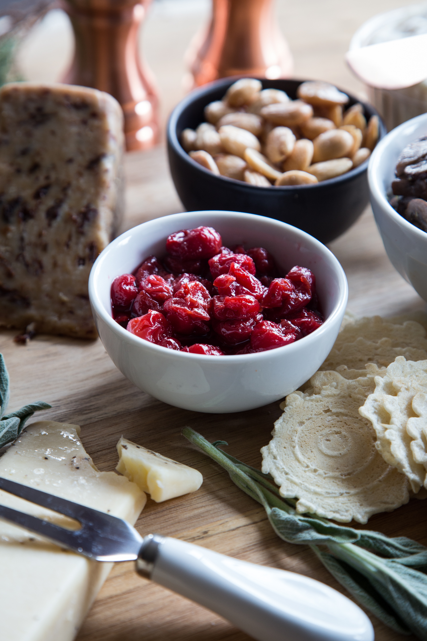 Montmorency Tart Cherry Bourbon Compote is a sweet tart addition to any Holiday Cheese Board!