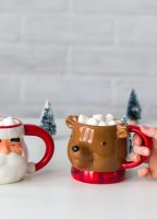 Hot Chocolate in Christmas Mugs