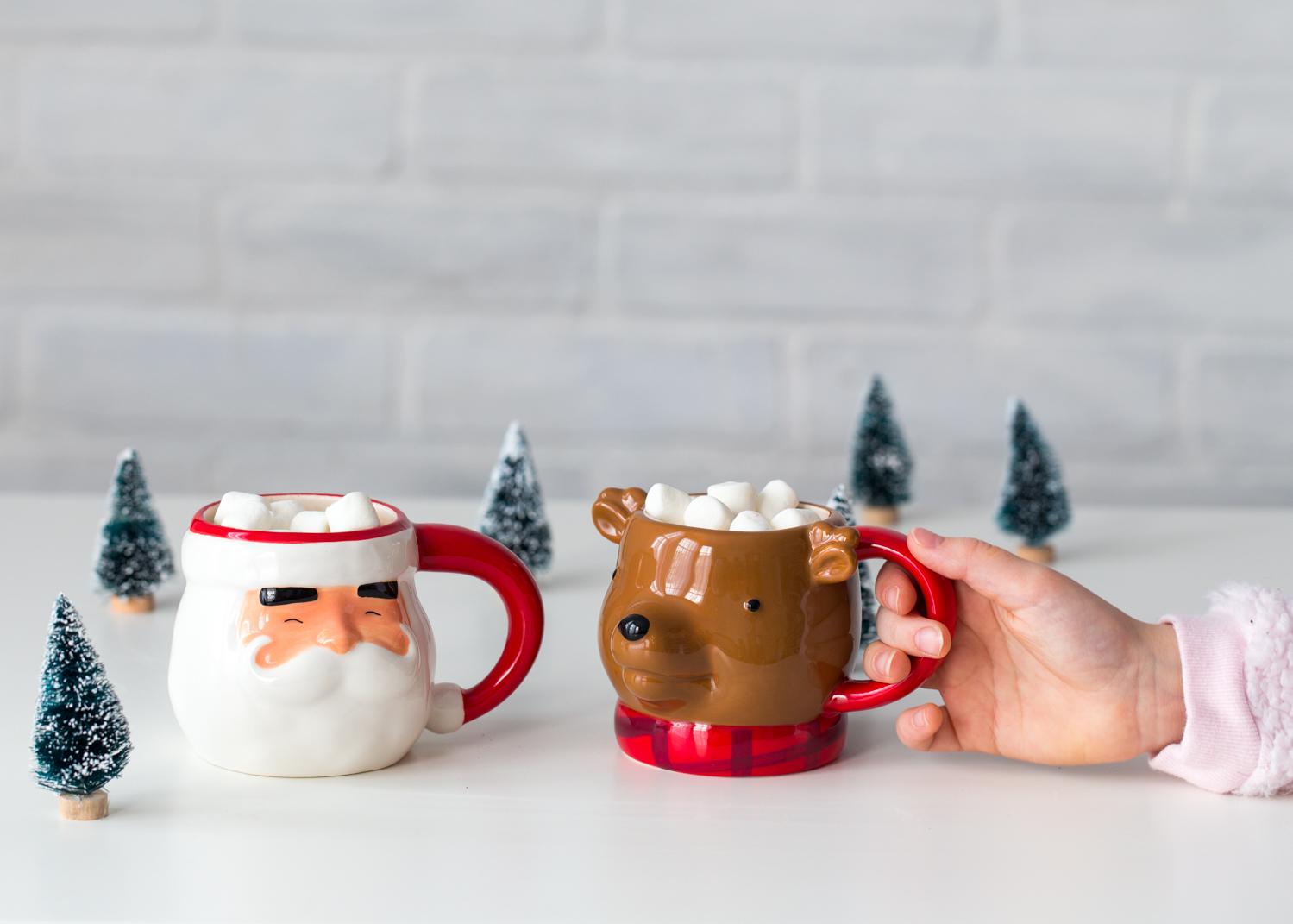 Hot Chocolate in Christmas Mugs