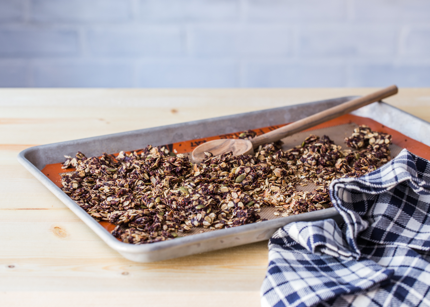 Chocolate Coconut Granola is great on it's own or as a topping to rich, tangy Greek yogurt