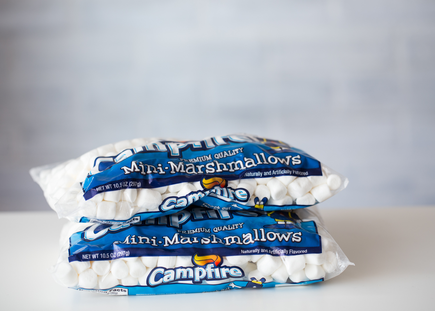 Campfire Mini Marshmallows in Chocolate Coconut Marshmallow Treats