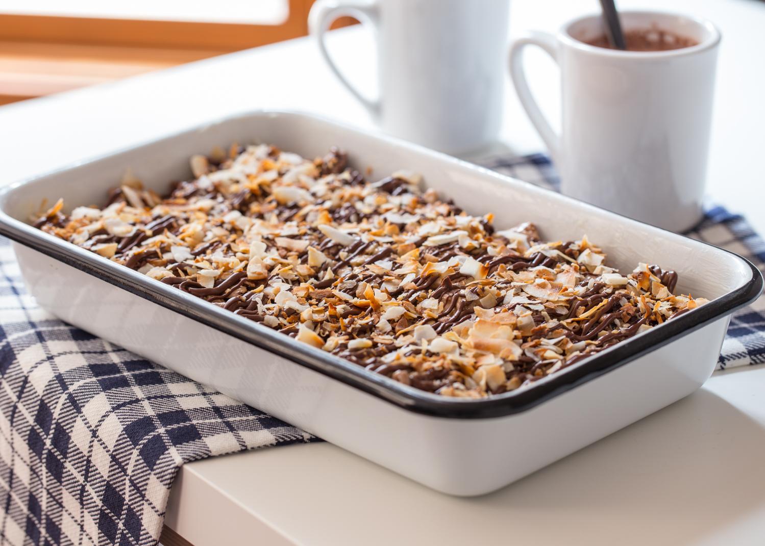 Chocolate Coconut Marshmallow Treats - Jelly Toast