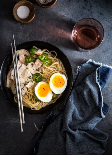 Hot and comforting, Quick Chicken Ramen