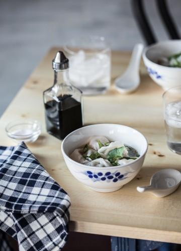 Homemade Wonton Soup with Shanghai Style wonton