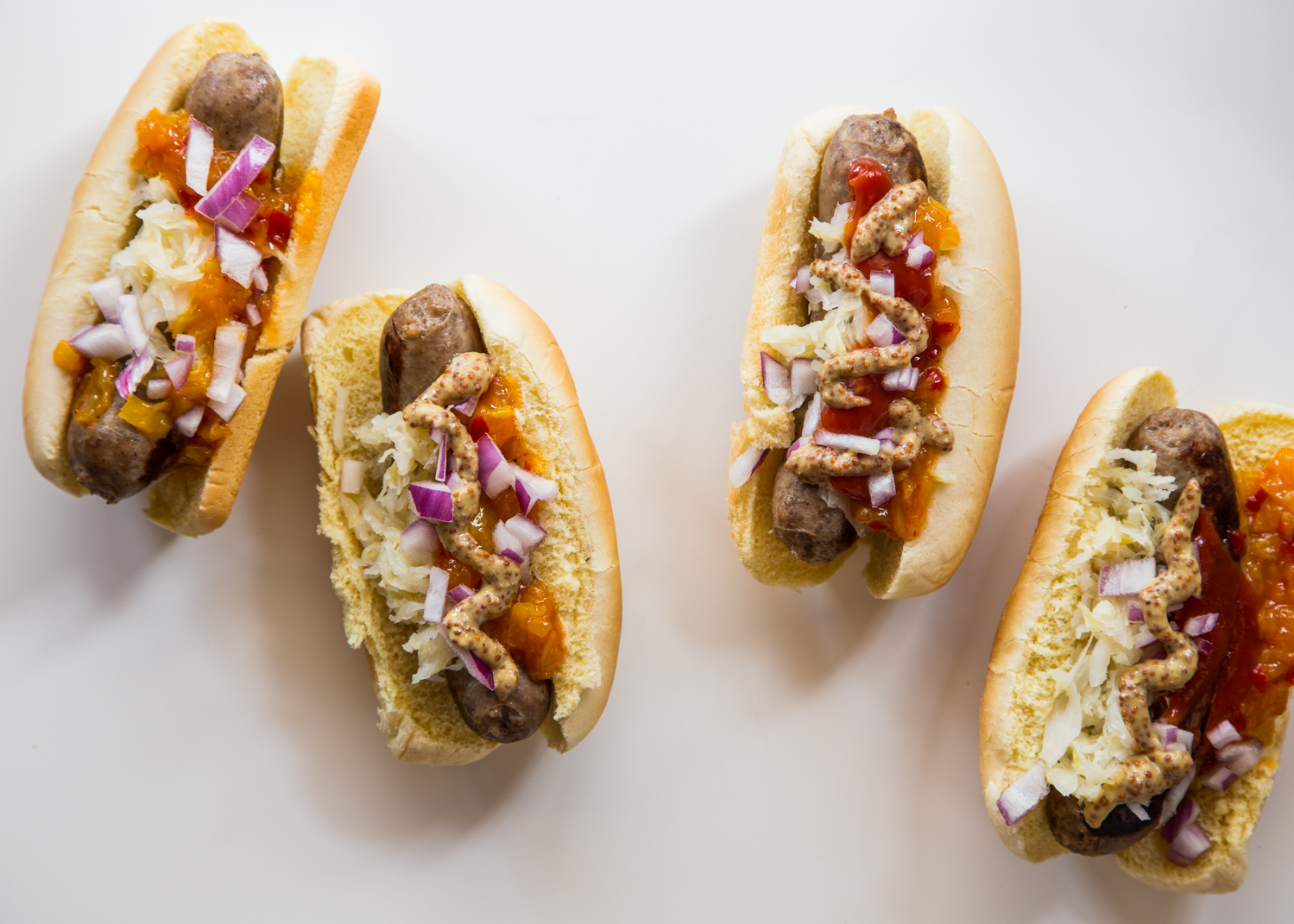 Bratwurst Hot Dog Toppings