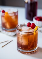 Tart Cherry Old Fashioned cocktails are perfect for Valentine's Day