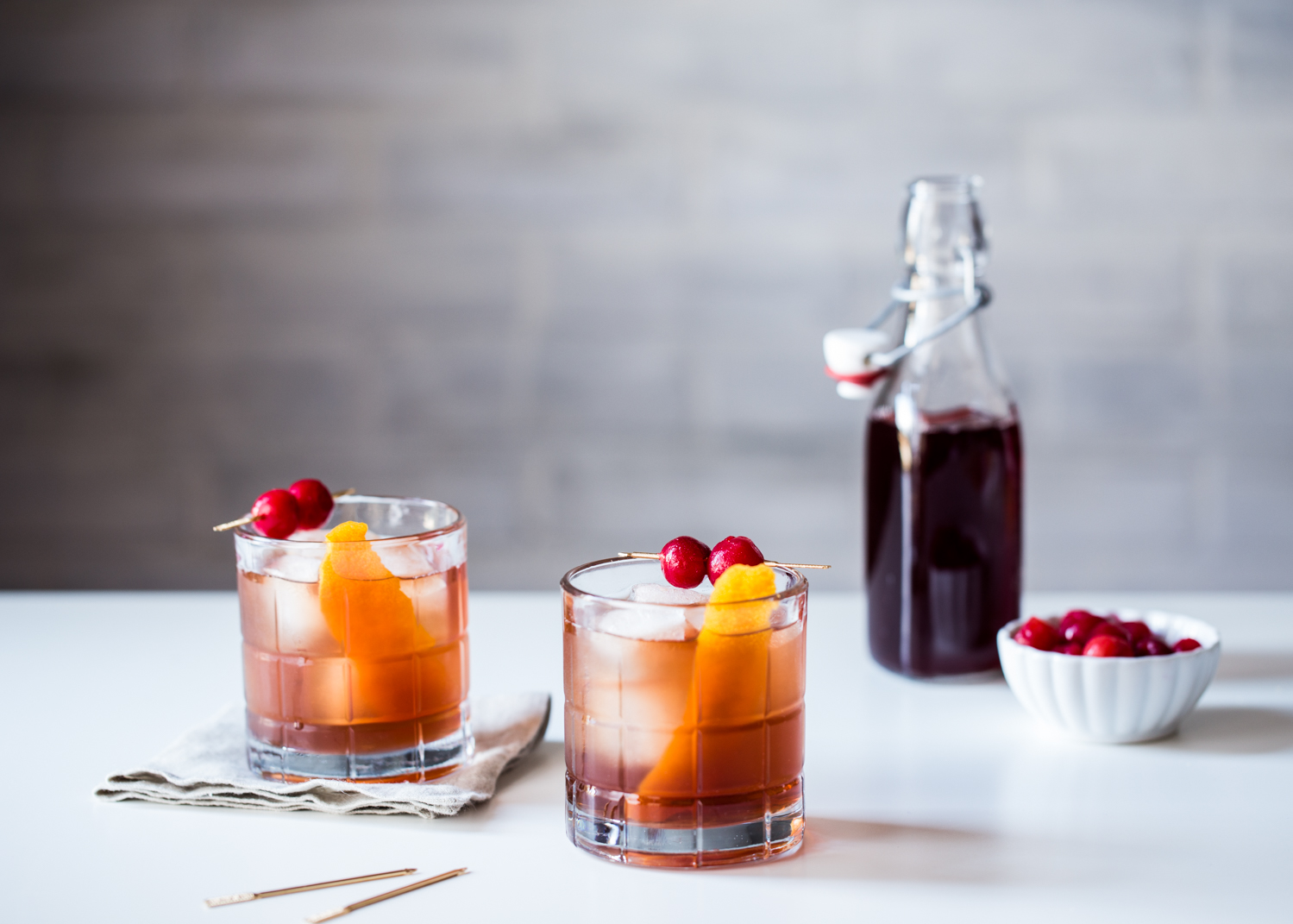 Valentine's cocktail never tasted so good with these Tart Cherry Old Fashioned